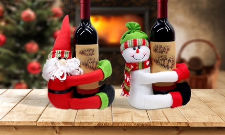 One, Two or Four Santa or Snowman Bottle Huggers