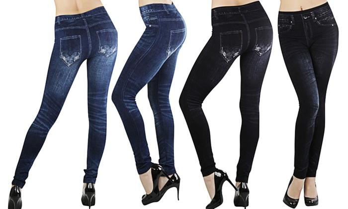 7b482427c9 Women's Jean Leggings (2-Pack)   Groupon Goods