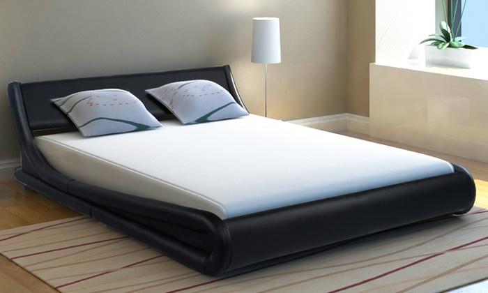 Jusquà Cadre De Lit VidaXL Simili Cuir Groupon - Cadre de lit simili cuir