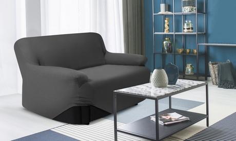 Housse extensible pour fauteuil ou pour canapé avec base élastique