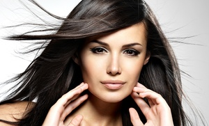 Village Hair Salon: Conditioning and Scalp Massage, or Haircut with Blowout or Highlights at Village Hair Salon (Up to 57% Off)