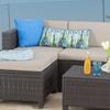 Lorita Outdoor Wicker Sectional Sofa Set (5-Piece)
