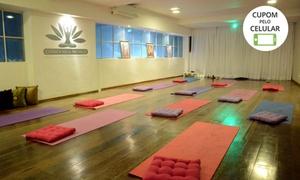 Clínica Ailla Pacheco: Núcleo de Yoga e Terapias: 1 ou 3 meses de ioga com matrícula inclusa na Clínica Ailla Pacheco – Funcionários