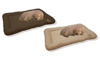 Beatrice Waterproof Dog Crate Pads - Chocolate