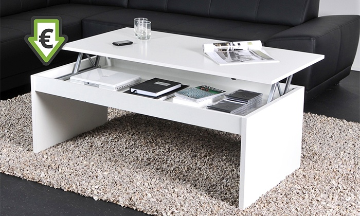Table Basse Plateau Relevable Groupon Shopping