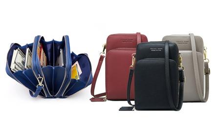 Six-Compartment Crossbody Bag