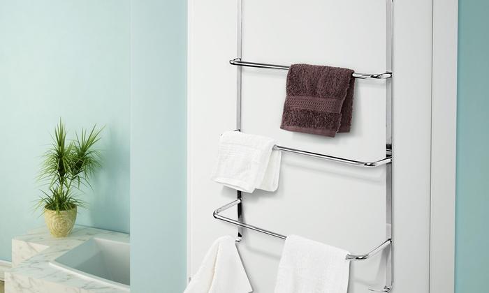 handtuch regal f r die badt r groupon goods. Black Bedroom Furniture Sets. Home Design Ideas