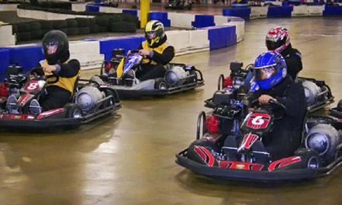 Melrose Park Indoor Grand Prix - Melrose Park: Four Sessions of Go-Kart Racing with Annual License and Headsock at Melrose Park Indoor Grand Prix (Up to 73% Off)