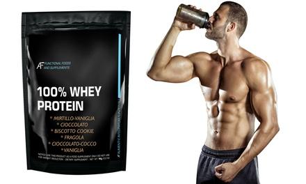 Fino a 3 kg di proteine in polvere 100% Whey Protein A.I.F. disponibili in vari gusti