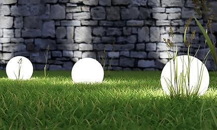 Set di 3 globi da giardino groupon goods for Groupon giardino