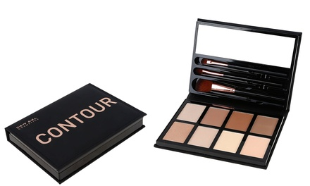 Dirty Girl Cosmetics Naked Contour Highlighter and Bronzer Kit with Brushes