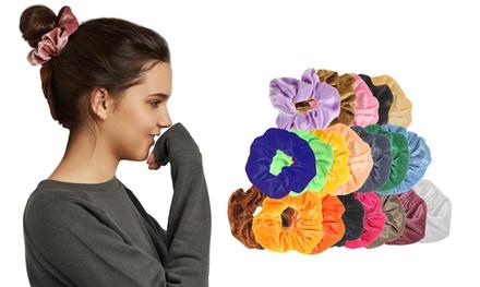 Velvet Elastic Hair Tie Scrunchies (20-80-Pack)