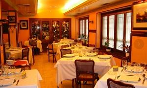 Victor: Menú para 2 o 4 con aperitivo, entrante, principales, postre y bebida o botella de vino desde 49,90 € en Victor