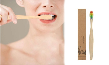 Bamboo Toothbrushes with Rainbow Bristles: Five ($9.95), Ten ($14.95) or Twenty ($24.95)