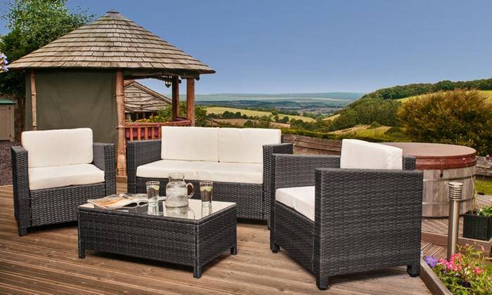 Rattan Garden Furniture Groupon rattan garden furniture set | groupon goods
