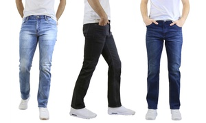 Men's Straight-Leg Stretchy Jeans
