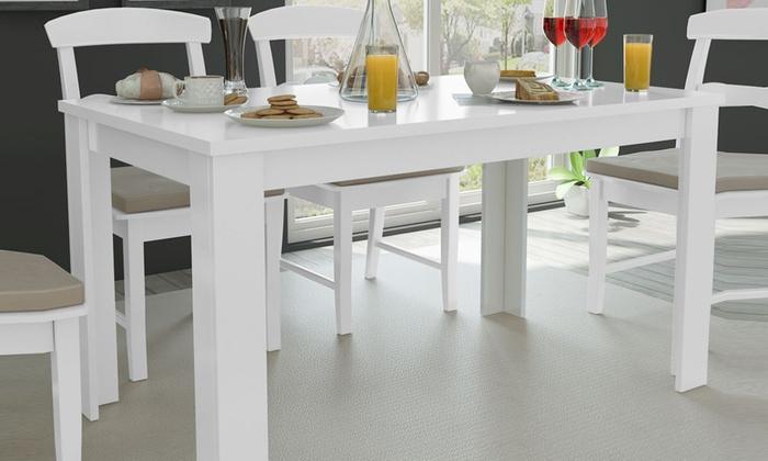 Table de salle manger 140 cm groupon for Table salle a manger 140 cm