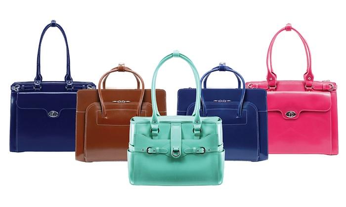 McKlein Ladies Top Grain Leather Laptop Briefcases