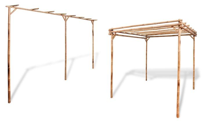 pergola bambou pergola en arcade bambou pergola bambou en arcade tonnelle de jardin ou pergola. Black Bedroom Furniture Sets. Home Design Ideas