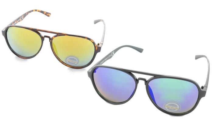 Mirrored Aviator Sunglasses: Mirrored Aviator Sunglasses. Multiple Options Available.