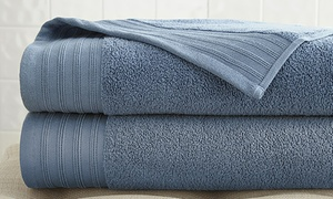 Oversize Quick-Drying 100% Cotton Bath Sheets (2-Pack)