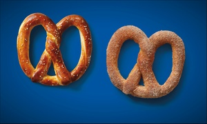 Auntie Anne's Soft Pretzels: Sweet and Savory Hand-Rolled Pretzels from Auntie Anne's Soft Pretzels (50% Off)