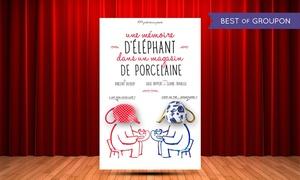 """comedie des suds: 2 places pour """"Un éléphant dans un magasin de porcelaine"""" du 4 au 27 mai 2017 à 21h30 à 20 € à la Comédie des suds"""