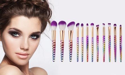 Six or TenPiece Rainbow MakeUp Brush Set