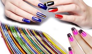 Set de lignes brillantes nail art