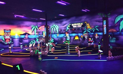 image for One Round of Mini Golf and One Laser Tag Game for Two or Four at Bonkerz Family Fun Center (Up to 55% Off)