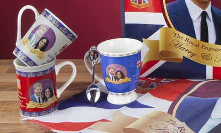 Royal Wedding Mugs and Plates Featuring Prince Harry and Meghan Markle