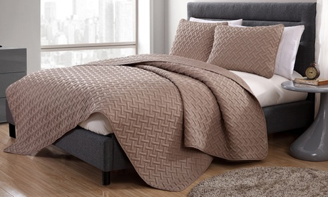 Nina or Shore Embossed Quilt Set (2- or 3-Piece)