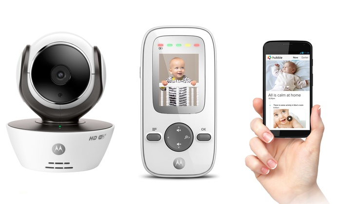 motorola baby monitors with video wifi and dual cameras groupon. Black Bedroom Furniture Sets. Home Design Ideas