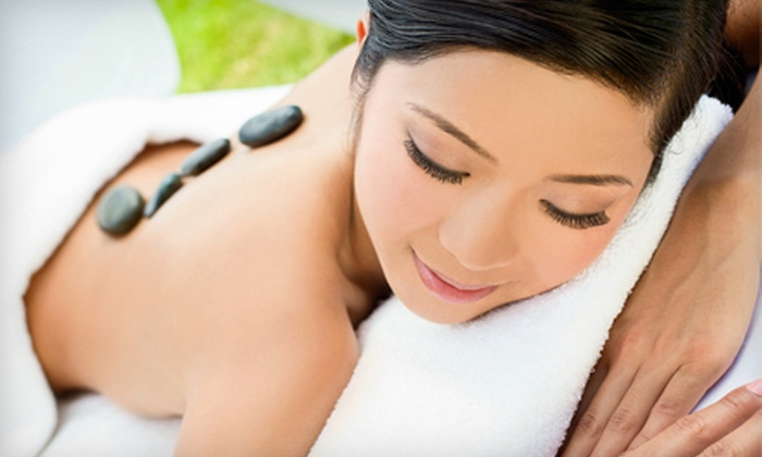 Om Nail Spa - Oaklands: $99 for a Spa Package with a Hot-Stone Massage, Facial, and Manicure at Om Nail Spa ($205 Value)