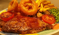 Rump Steak Meal with Wine for Two or Four at The Ferry Inn (Up to 48% Off)