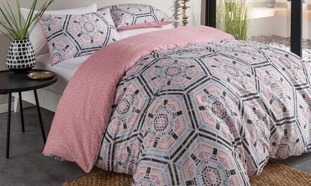 Aztec Reversible Duvet Cover Set