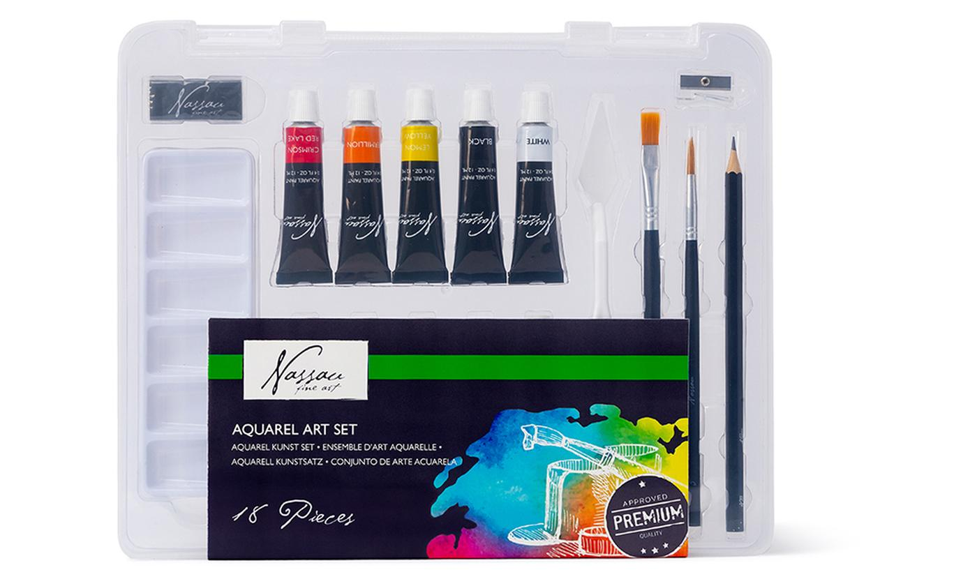 One or Two Nassau Fine Art Aquarelle Art Sets
