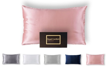 TwoSided Pure Mulberry Silk Pillowcases in a Choice of Colour: One $32.95 or Two $59 Don't Pay up to $458