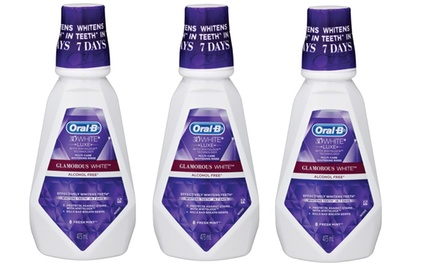 $12 for Three Packs of OralB 3D White Luxe Glamourous White Mouthwash Don't Pay $25.47