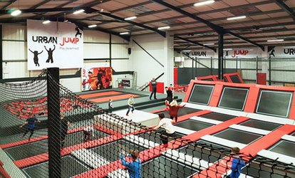 image for One or Two Hour Open Jump and Urban Rainforest Experience Session for Up to Four at Urban Jump (Up to 35% Off)