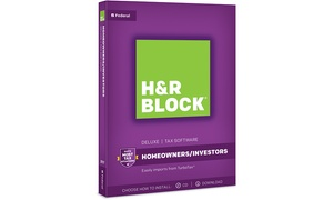 H&R Block Tax Software Deluxe 2017