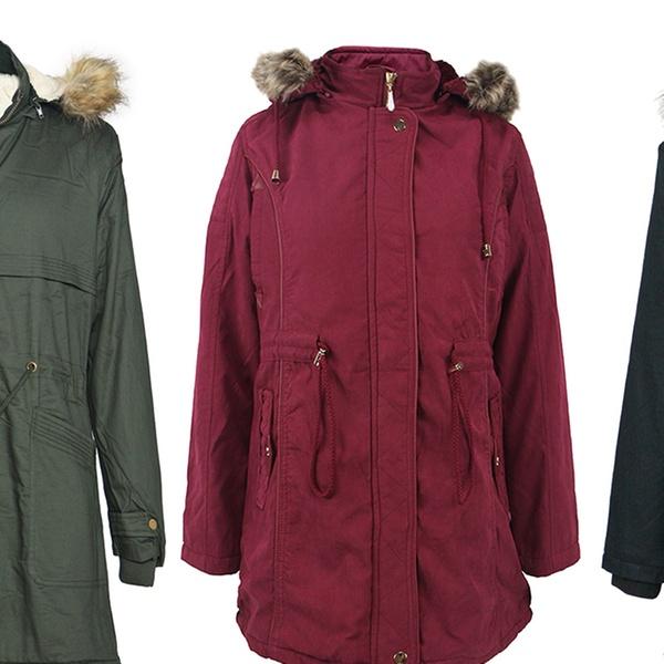 b701ebd666a LeeHanTon Women s Military Anorak Safari Lined Parka Jacket