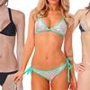 Sequin, Bandage, or Lace-Trim Two-Piece Bikini Set
