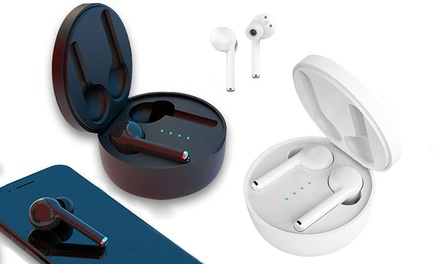 Wireless Bluetooth 5.0 Stereo Earbuds with BuiltIn Microphone and Charging Box: One $35 or Two $59