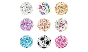 Kids' Crystal Stud Earrings in 18K Gold Plated Sterling Silver