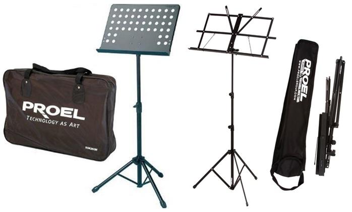 Leggio musicale Proel con borsa per il trasporto, disponibile in 2 modelli da 10,99 € (fino a 26% di sconto)