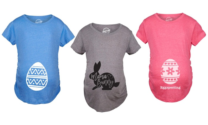 04a12f3beb7fd Up To 5% Off on Easter Maternity T-Shirts | Groupon Goods