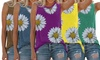 Women's Daisy Print Sleeveless Top