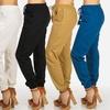 Women's Junior Linen Drawstring Pants with Pockets