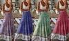 Women's High Waist Bohemian Floral Maxi Skirt
